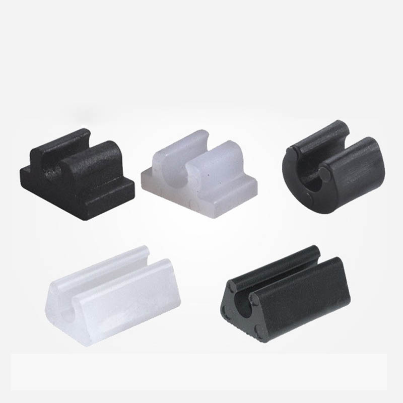 Plastic opening Clip on glide for sled style chairs