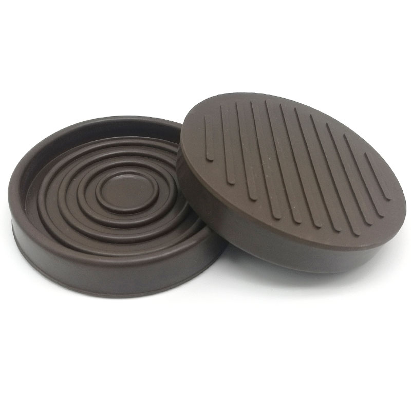 3-inch Round Brown Rubber Furniture Cups