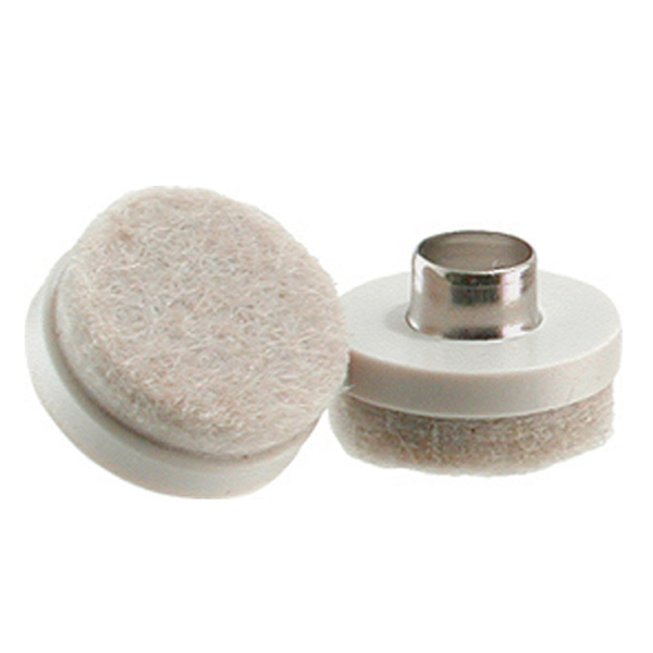 Nail On Furniture Glides with Felt Pads plastic base tap-on felt glides 7/8