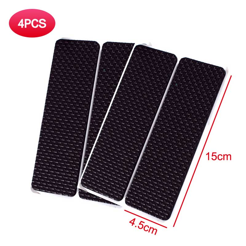 EVA Self Adhesive Furniture Gripper Pad Non Slip Stick Square Furniture Stopper Protector for Table Chair (Rectangle145X45MM 4PCS)