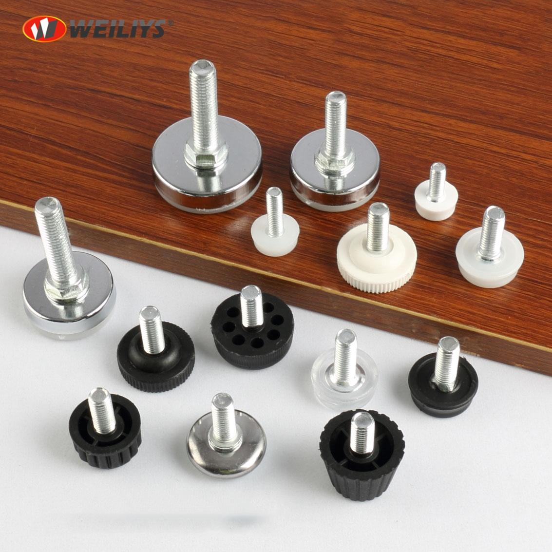 Furniture Levelers 8mX8mm PVC adjustable feet-weiliys.com